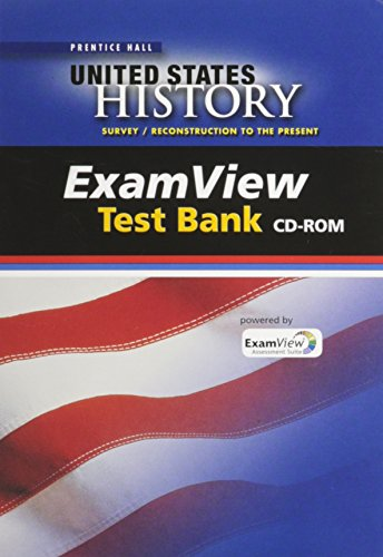 9780133690323: United States History 2010 Survey/Reconstruction Examview Computer Test Bank