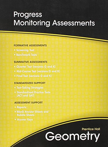 9780133697155: HIGH SCHOOL MATH 2011 GEOMETRY PROGRESS MONITORING ASSESSMENTS