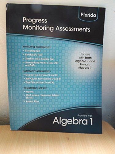 9780133697179: Progress Monitoring Assessments (Prentice Hall Algebra 1)
