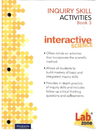 9780133698510: Inquiry Skill Activities Book 3 Lab Zone Interactive Science