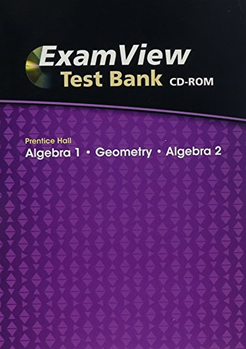 9780133701500: ExamView Test Bank, Algebra 1/Geometry/Algebra 2