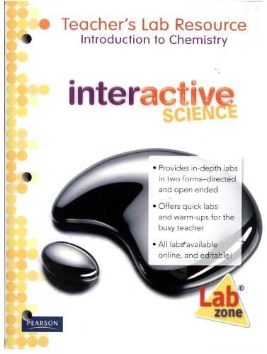 9780133705386: Interactive Science. Teacher's Lab Resource: Introduction to Chemistry Volume 10 (Interactive Scienc