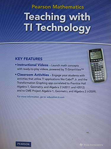 9780133706086: Pearson Mathematics Teaching with TI Technology CD included