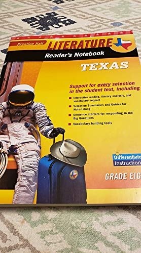 Literature Readers Notebook English Learners Version Texas: Pearson Education