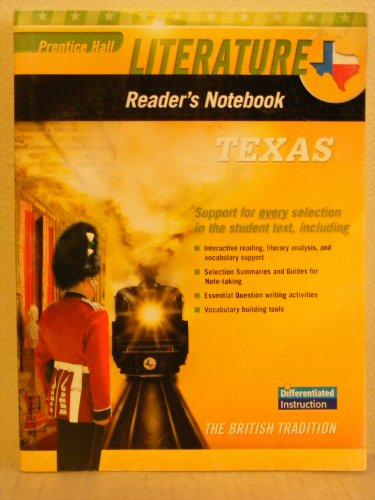 9780133713633: Prentice Hall Literature Reader's Notebook-Differentiated Instruction-TEXAS Edition