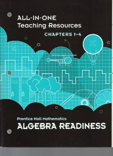 9780133721348: All-in-One Teaching Resources, Chapters 1-4, Prentice Hall Mathematics Algebra Readiness