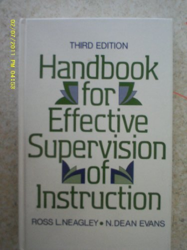 9780133726725: Handbook for Effective Supervision of Instruction