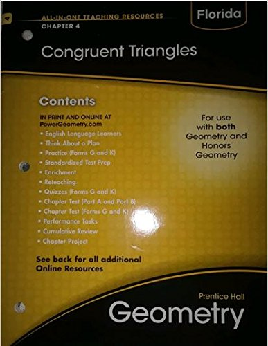 9780133728767: Florida Geometry- Congruent Triangles Chapter 4