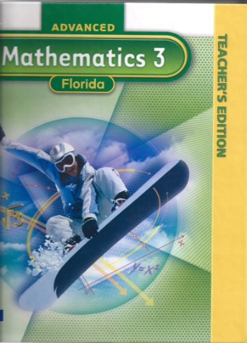 9780133730067: Advances Mathematics 3 Teachers Edition