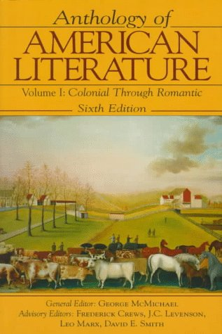 9780133732832: Anthology of American Literature Vol. I: Colonial Through Romantic