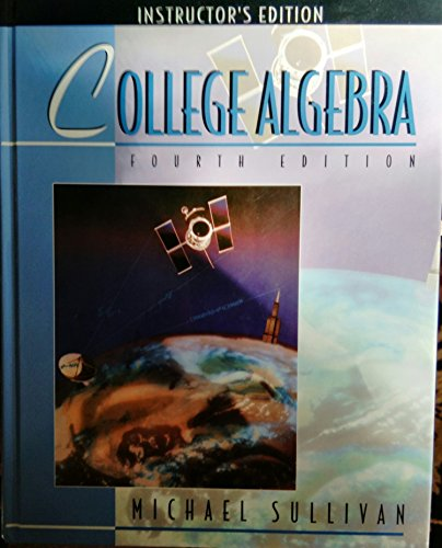 9780133734812: College Algebra: Instructor's Edition