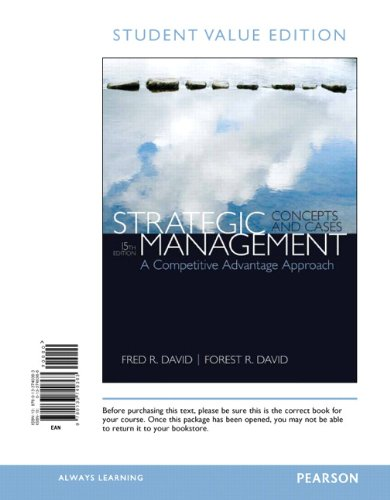 9780133740363: Strategic Management: A Competitive Advantage Approach, Concepts & Cases, Student Value Edition (15th Edition)