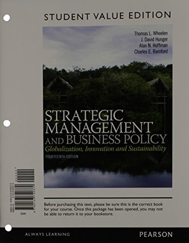 9780133740370: Strategic Management and Business Policy: Globalization, Innovation and Sustainability, Student Value Edition (14th Edition)