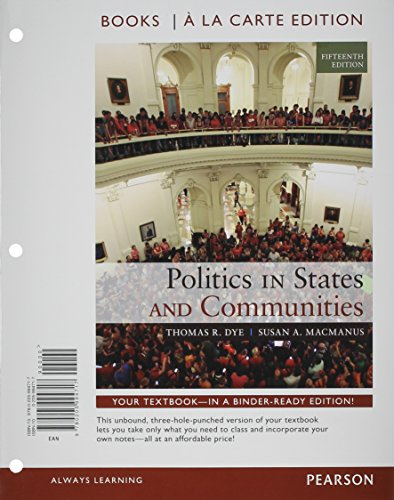 9780133745757: Politics in States and Communities Books a la Carte Plus MySearchLab with eText -- Access Card Package (15th Edition)