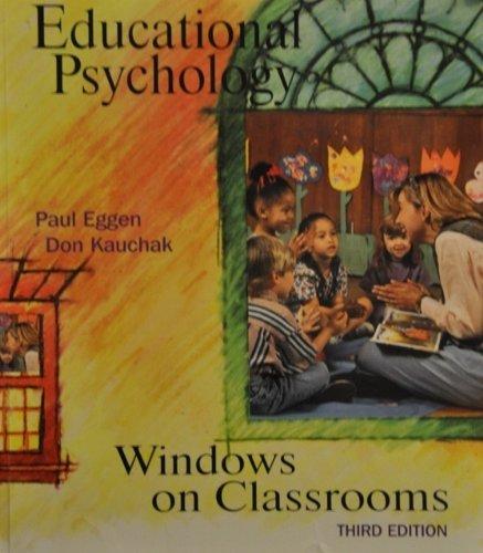9780133746044: Educational Psychology: Windows on Classroom