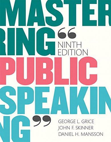 9780133753837: Mastering Public Speaking (9th Edition)