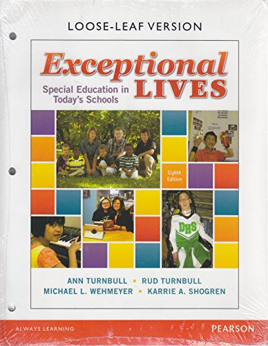 9780133754070: Exceptional Lives: Special Education in Today's Schools, Loose-Leaf Version (8th Edition)
