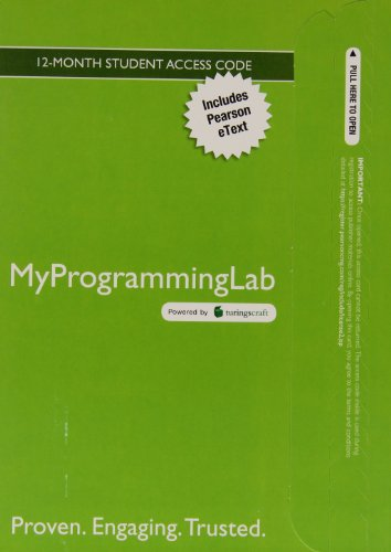 9780133759112: MyLab Programming with Pearson eText -- Access Code Card -- for Starting Out with Python