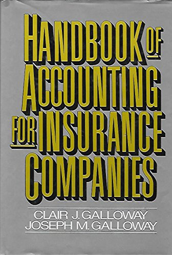 9780133760132: Handbook of Accounting for Insurance Companies