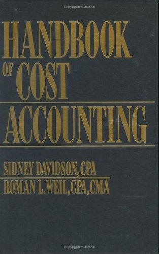9780133760392: Handbook of Cost Accounting