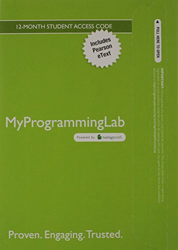 9780133762518: MyProgrammingLab with Pearson eText -- Access Card -- for Intro to Java Programming, Comprehensive Version, 10/e