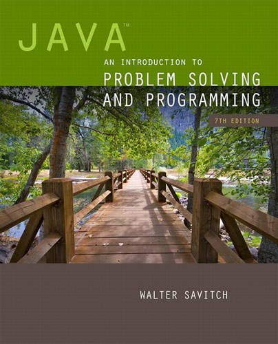 Java: An Introduction to Problem Solving and: Savitch, Walter