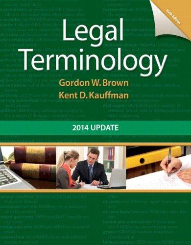 9780133766974: Legal Terminology: 2014 Update