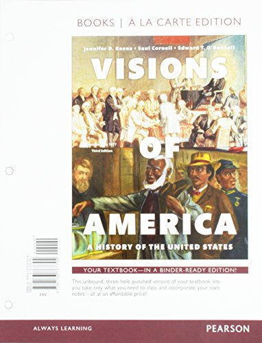 9780133767704: Visions of America: A History of the United States, Volume One, Books a la Carte Edition (3rd Edition)
