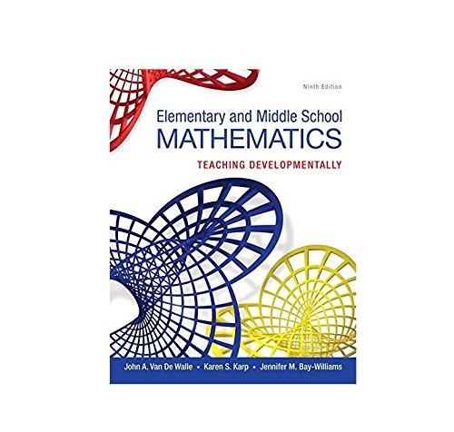 9780133768930: Elementary and Middle School Mathematics: Teaching Developmentally