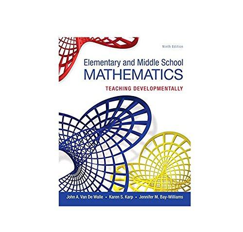9780133768930: Elementary and Middle School Mathematics: Teaching Developmentally