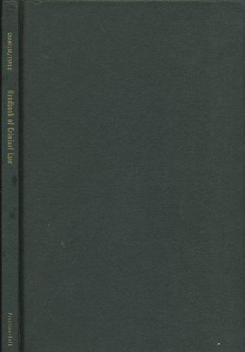 9780133771190: Handbook of Criminal Law (Law Enforcement)