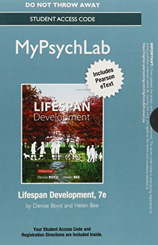 9780133771718: NEW MyPsychLab with Pearson eText -- Standalone Access Card -- for Lifespan Development (7th Edition)