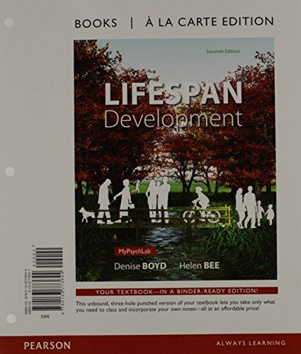 9780133773644: Lifespan Development, Books a la Carte Edition (7th Edition)