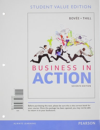 9780133773996: Business in Action, Student Value Edition (7th Edition)