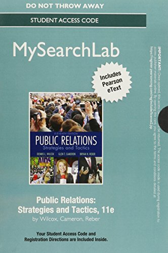 9780133774863: MySearchLab with Pearson eText -- Standalone Access Card -- for Public Relations: Strategies and Tactics (11th Edition)