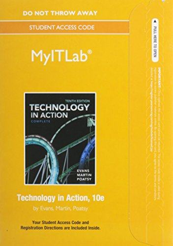 MyITLab without Pearson eText -- Access Card -- for Technology In Action (Replacement Card): Alan ...