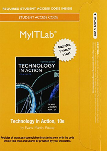 9780133774955: MyLab IT with Pearson eText -- Access Card -- for Technology In Action, Complete