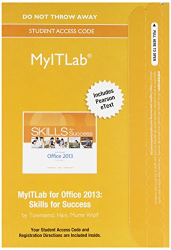 9780133775044: MyITLab with Pearson eText -- Access Card -- for Skills for Success with Office 2013
