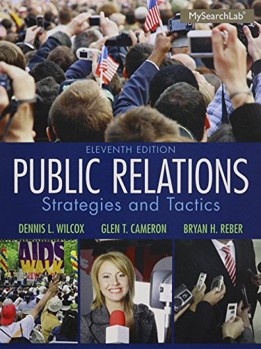 9780133775785: Public Relations with MySearchLab Student Access Code: Strategies and Tactics