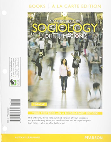 9780133777406: Sociology, Books a la Carte Plus NEW MySocLab with eText -- Access Card Package (15th Edition)