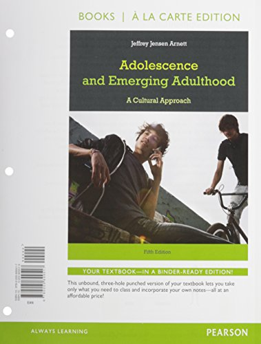 9780133777871: Adolescence and Emerging Adulthood, Books a la Carte Edition, My Virtual Teen -- Valuepack Access Card (5th Edition)