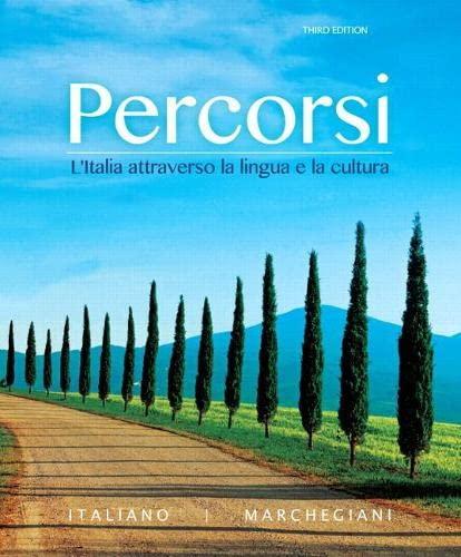 Percorsi: L italia Attraverso la Lingua e la Cultura Plus MyItalianLab with Pearson eText (...