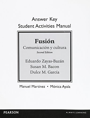 9780133778120: Answer Key for Student Activities Manual for Fusion: Comunicacion y cultura
