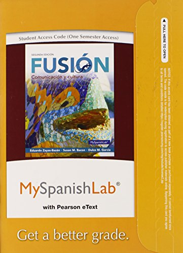 9780133778168: MyLab Spanish with Pearson eText -- Access Card -- for Fusion (one semester access) (2nd Edition)