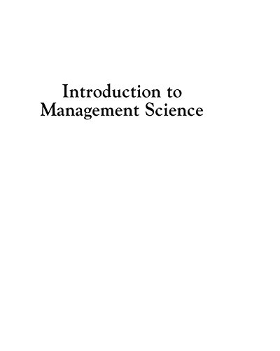 9780133778847: Introduction to Management Science (12th Edition)