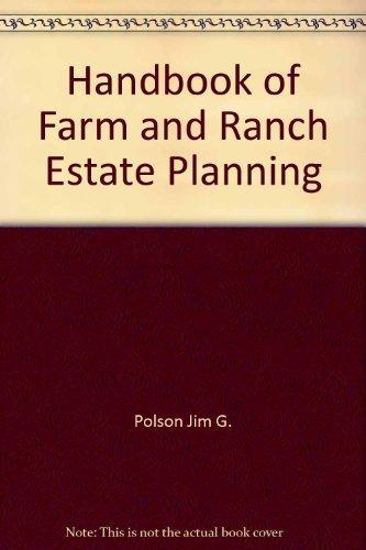9780133779523: Handbook of farm and ranch estate planning