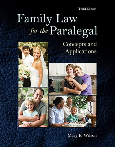 9780133779714: Family Law for the Paralegal: Concepts and Applications