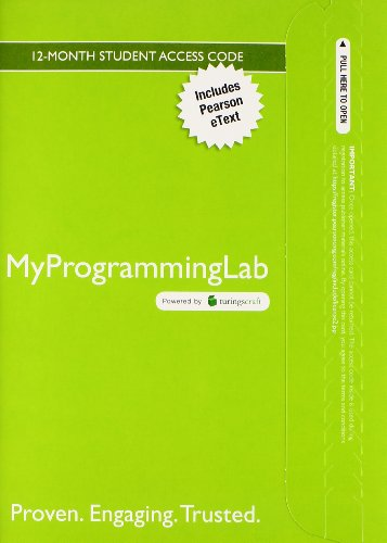 9780133780611: Myprogramminglab with Pearson eText -- Access Card -- for Starting Out with C++ From Control Structures through Objects (8th Edition)