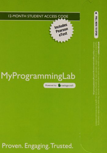 9780133781281: Myprogramminglab with Pearson Etext -- Access Code Card -- For Java Software Solutions: Foundations of Program Design