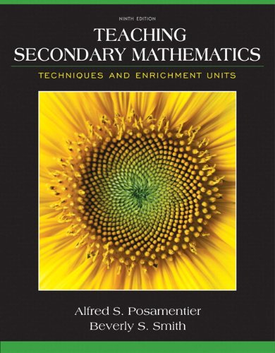 9780133783674: Teaching Secondary Mathematics: Techniques and Enrichment Units